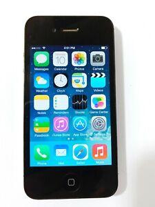 APPLE iPHONE 4 -8G- BLACK A1349 VERIZON (CDMA) - CLEANED & UNLOCKED