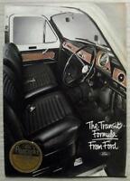 FORD TRANSIT VANS Sales Brochure June 1972 #FB285 Kombi CREWBUS Chassis Cab BUS