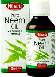 NIHARTI 100% PURE NEEM OIL - DAMAGED SKIN, HAIR, TEETH & ANTI AGEING