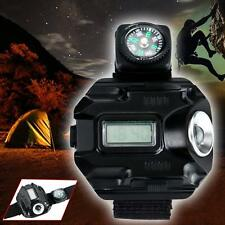 Tactical CREE LED 1000 Lumen Display Rechargeable Wrist Watch Flashlight Torch