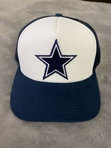DALLAS COWBOYS Helmet Star Embroidered Trucker Cap Hat Adjustable Snapback NEW