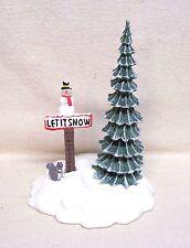 "Department Dept 56 Accessories  ""Let It Snow"" Snowman Sign Resin"