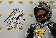 HIROSHI Aoyama mano firmato interwetten HONDA MOTOGP FOTO 12X8.