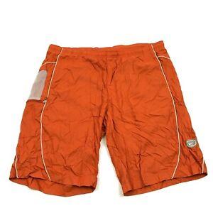 VINTAGE Nike Swim Trunks Size Extra large Orange Mesh Lind Boardshorts Straight