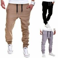 Mens Cargo Combat Work Wear Military Cotton Cuffed Trousers Tactical Long Pants