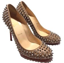 CHRISTIAN LOUBOUTIN NUDE BEIGE 'FIFI' SPIKES PUMPS, 40, $1250