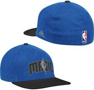 adidas NBA Orlando Magic Royal Blue-Black 2-in-1 Bill Flex Hat - Large/XLarge