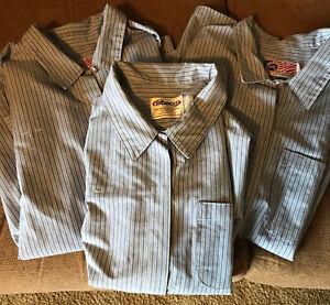Three Vintage Postal Clerk Shirts EUC