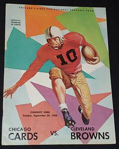 1956 - CHICAGO CARDINALS vs CLEVELAND BROWNS - NFL - PROGRAM - ORIGINAL