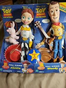 Hasbr0 Disney Pixar Toy Story Jessie Woody Pull Strings Dolls New In Box Rare...