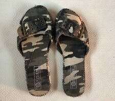Ladies Size 5 Army Patterned Mules By Oxygen