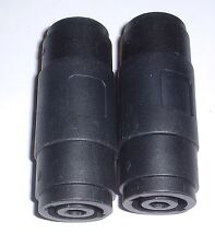 2 off 4 pole twist lock speaker plug couplers (Speakon Compatible) UK stock