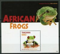 Tanzania Amphibians Stamps 2015 MNH African Frogs Red-Eyed Tree Frog 1v S/S I