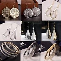 Elegant Women Lady Hook Earrings Chic Crystal Ear Stud Dangle Hoops Jewelry Gift