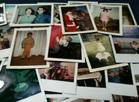 Lot of (50) Random POLAROID Found Photos & Vintage Snapshots Mixed Subjects