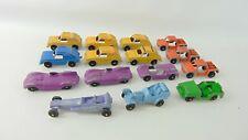 Vintage Tootsie Toy Die Cast Cars, Dragster, Jaguar, Baja, Rabbit, GT Ford, Jeep