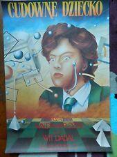 REDUCED! Original Vintage Polish Film Poster of Cudowne dziecko (Young Magician)