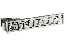Music Note Musician Clasp Tie Clip Bar Instrument Musical Treble Clef