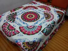New Queen   size  machine pieced and quilted  Patchwork quilt / #NJ-85Q