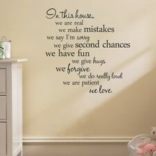 In This House...Home Decor Vinyl Wall Paper Decal Art Stickers Wall Decals W55
