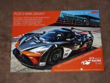KTM X-Bow GT4 (RTR Projects Racing Team) - (2017) CZE Karte/card 15x21 cm