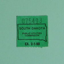 1989 South Dakota Vintage Interstate Trucking Vehicle Inspection License Stamp
