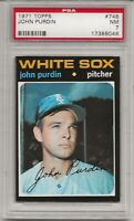 1971 TOPPS #748 JOHN PURDIN,PSA 7 NM, HIGH NUMBER, SHORT PRINT, WHITE SOX, L@@K