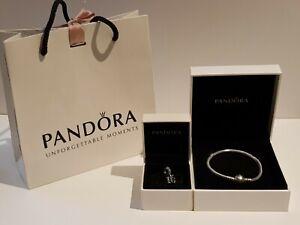 PANDORA 797261CZ 16 Years of Love Bead Charm  with Sparkling Heart bracelet.