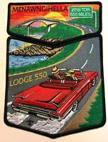MENAWNGIHELLA OA LODGE 550 MOUNTAINEER AREA WV 2018 TOR CAR 1955 T-BIRD 2-PATCH