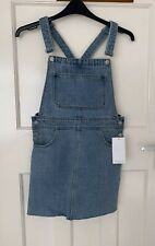 26f3a246 Zara Blue Denim Cotton Pinafore Dress With Buckles Size S