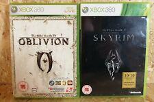 The Elder Scrolls IV: Oblivion et V Skyrim Xbox 360 bundle UK PAL (Complet)