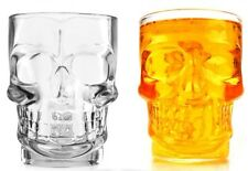 3D Crystal Skull Shape Knuckle Holder Beer Stein Pint Glass (with Handle).