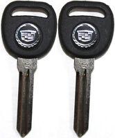 2 (Paire) Neuf Cadillac Escalade Dts Cts Sts Bijou Logo Transpondeur Clé Vierge