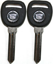 2(Pair) NEW CADILLAC ESCALADE DTS CTS STS JEWEL LOGO TRANSPONDER KEY BLANKS