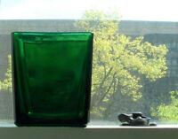 Vintage Napco Planter Vase Emerald Green Glass 1166 Cleveland OH USA Mid Century