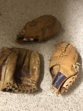 "Vtg Spalding & Regent Baseball Gloves ""Whitey Ford"" Leather Form Pocket"