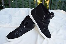 NEW Men's Size 10 Guess Toledo Black Suede Hi Top Athletic Fashion Sneaker Shoes
