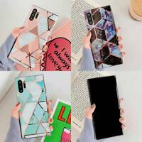 For Samsung Galaxy S8 S9 S10 Note10 9 8 Plus Laser Splice Marble Back Case Cover