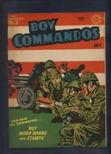 Boy Commandos #3 classic WWII patriotic cover all kirby art Very clean