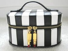 LULU GUINNESS CUTE BLACK AND WHITE LEATHER VANITY CASE LIPSTICKS NEW