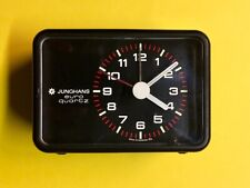 JUNGHANS Wecker EURO QUARZ Uhr Flip Clock KUGEL Diehl PANTON 60 70 80 schwarz