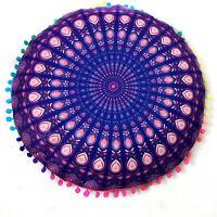 Large Round Mandala Meditation Floor Pillows Tapestry Bohemian LJZ Pillowcase