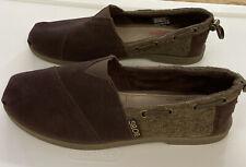 Guc Bobs Skechers Memory Foam Brown Size 6 Solid / Tweed Iob