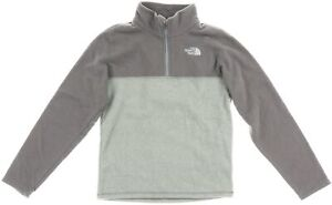 The North Face 174977 Kids Boys Glacier Quarter Zip Pullover Gray Size Medium