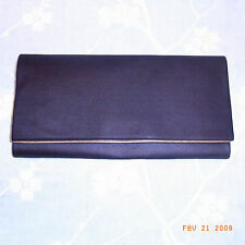 POCHETTE VINTAGE TISSU NOIR ANN 60 / VINTAGE 60 BLACK CLOTH CLUTCH BAG