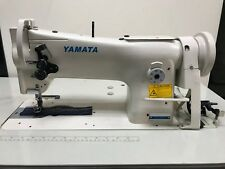 Yamata 206RB Walking Foot Sewing Machine with k/d table,stand and servo motor