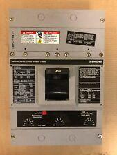 SIEMENS ITE HLD 3 pole 450 AMP TRIP 600v HLD63F600 HLD63F450 Breaker HLD6-A