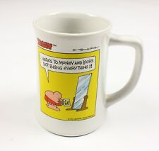 Vintage Ziggy Stoneware Tall Mug /Cup 1979 Tom Wilson