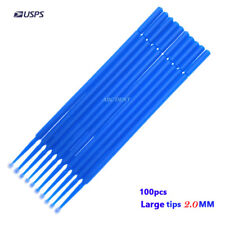 Touch Up Paint Micro Brush - 100 Brushes - 2.0MM Large Tips - Micro Applicators
