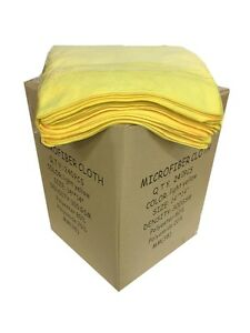 """240 Yellow Microfiber 14""""x14"""" Cleaning Detailing Cloth Towel Auto Car Rag 300GSM"""